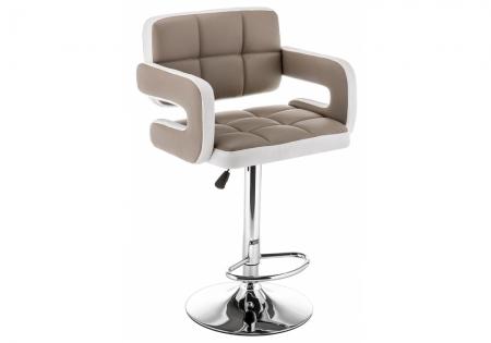 Барный стул Венд бежевый / белый
