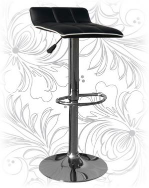 Барный стул 5014 черный с белым