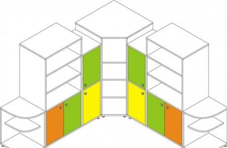 Детская стенка три крепость - ДС10